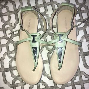 Franco Sarto Mint Thong Sandals